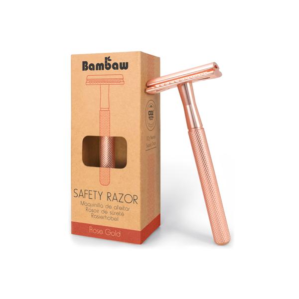 Bambaw metalen scheermes zonder sokkel rose gold_1