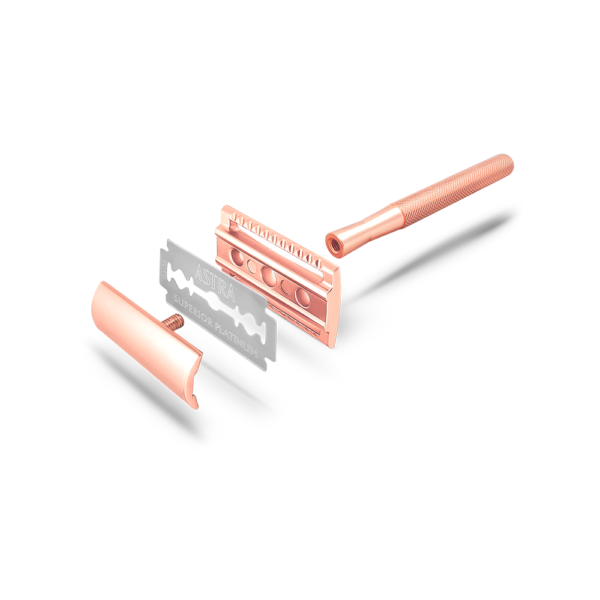 Bambaw metalen scheermes zonder sokkel rose gold_2