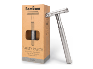 Bambaw metalen scheermes zonder sokkel zilver_1