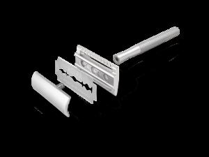 Bambaw metalen scheermes zonder sokkel zilver_2