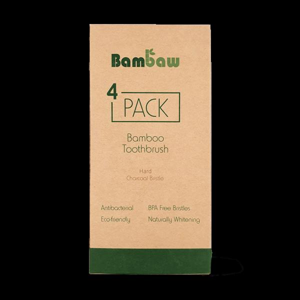 Bamboe tandenborstels 4- pack hard_1