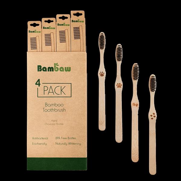 Bamboe tandenborstels 4- pack hard_2