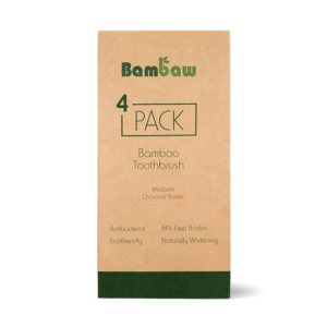 Bamboe tandenborstels 4- pack medium_1
