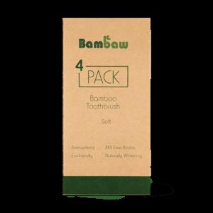 Bamboe tandenborstels 4- pack soft_1