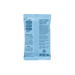 Smyle refill tandpastatabletten met fluoride_achterkant