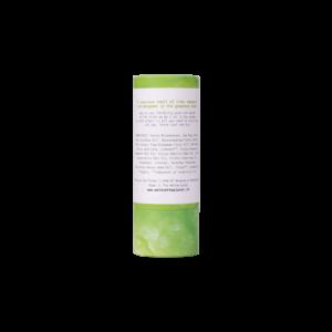 We love the planet deostick luscious lime vegan achterkant