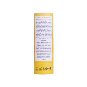 We love the planet sunscreen spf20 achterkant